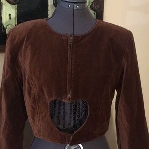 Vintage Jump Cropped Velour Jacket Size Small
